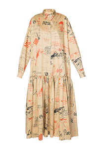 The Little Prince Cotton Maxi Shirtdress - Sand