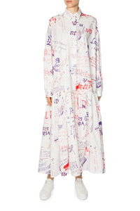 The Little Prince Cotton Maxi Shirtdress - White