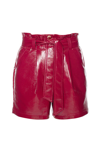 Laquered Eco Leather Shorts