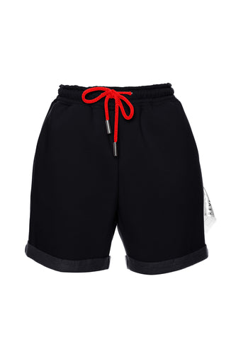 Drawstring CMYK Shorts - Black