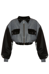 Chronon Crop Bomber Jacket