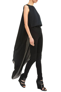 Back Drape High Low Top