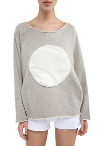 Maxine Tennis Ball Sweatshirt - White