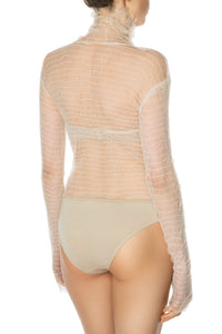Sheer Textured Bodysuit