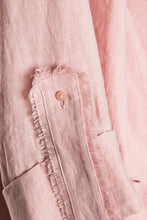 Load image into Gallery viewer, Crisscross Front Linen Jacket - Pink