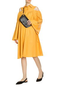Bare Shoulder Shirtdress - Orange