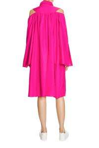 Bare Shoulder Shirtdress - Pink