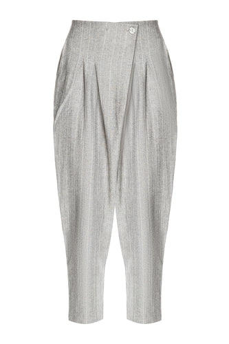 Pleated Cotton Pants