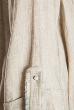 Load image into Gallery viewer, Crisscross Front Linen Jacket - Beige