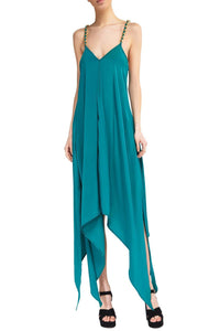 Chain Strap Dress - Teal