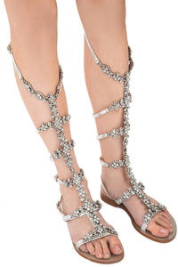 Swarovski Crystal Gladiator Sandals