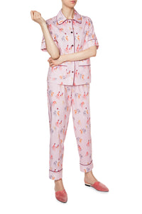 Cotton Short Sleeve Pajamas - Noble Animal Print