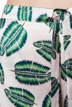 Load image into Gallery viewer, Silk Pajama Shorts Set - Jungle Leaf Print
