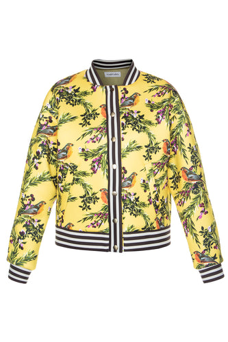 Juicy Cranberries Bomber Jacket - Lemon