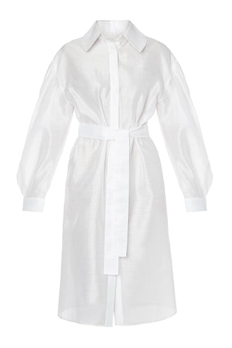 Tailored Blouson Shirtdress