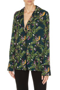 Juicy Cranberries Pajama Jacket - Black