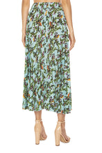 Load image into Gallery viewer, Juicy Cranberries Pleated Skirt - Blue