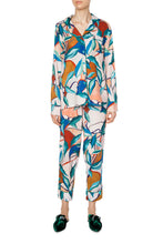 Load image into Gallery viewer, Silk Long Sleeve Pajamas - Bright Leaves Print