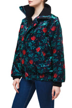 Load image into Gallery viewer, Floral High Neck Track Jacket