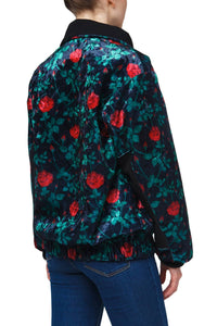 Floral High Neck Track Jacket