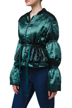 Load image into Gallery viewer, Satin Peplum Jacket