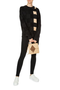 Color Block Sweater - Black