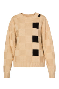 Color Block Sweater - Beige