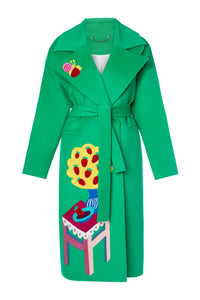 Snail and Strawberry Cashmere Coat