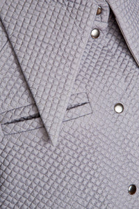 Quilted Dramatic Collar Shirt