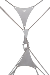 Double Triangle Body Chain - Silver