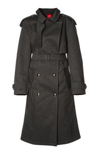 Sleepless Night Trench Coat - Charcoal