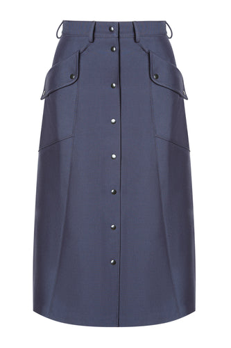 Beate Button Front Skirt