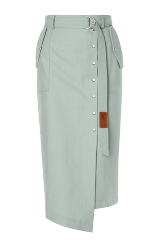 Sue Belted Pencil Skirt - Mint