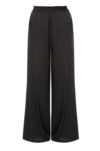 Wide Leg Pants - Black