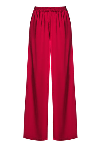 Wide Leg Pants - Red