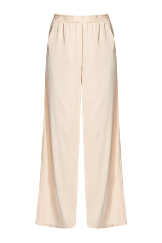 Wide Leg Pants - Cream