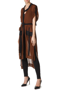 Chiffon Tunic - Brown