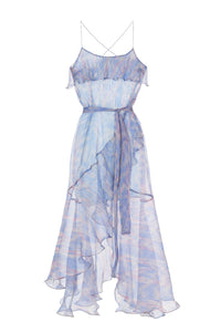 Marlene Ruffle Silk Dress