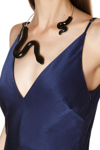 Ceramic Serpent Choker - Black