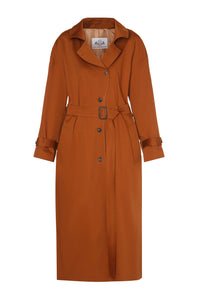 Oversized Trench Coat - Rust