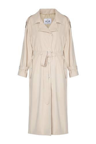 Oversized Trench Coat - Beige