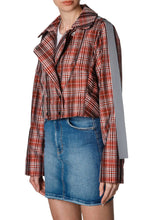 Load image into Gallery viewer, Plaid Moto Jacket
