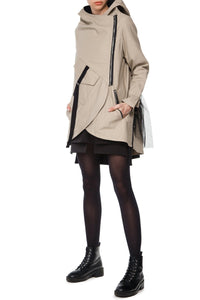 Raincoat with Tulle Tail - Beige