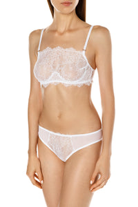 Delicate Lace Inset Panties - White
