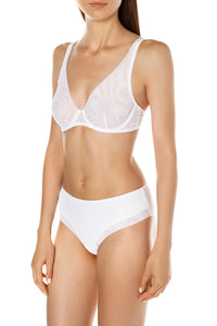 Triangle Mesh Bra - White