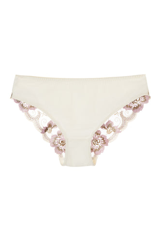 Embroidered Floral Lace Bikini Panties