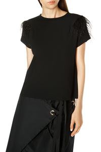 Feather Shoulder Top