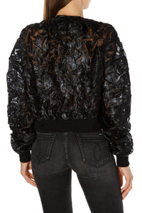 Embossed Bomber Jacket
