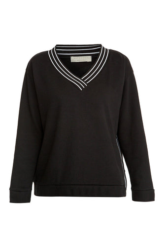 V Neck Sweater - Black