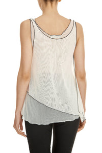 Double Layer Mesh Tank - Ivory